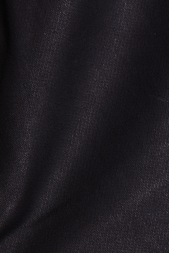 Coated jersey trousers, BLACK, detail image number 4