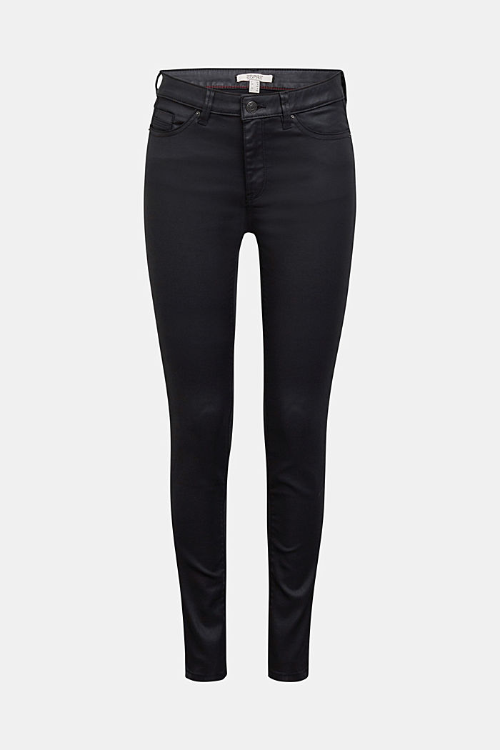 Coated jersey trousers, BLACK, detail image number 7