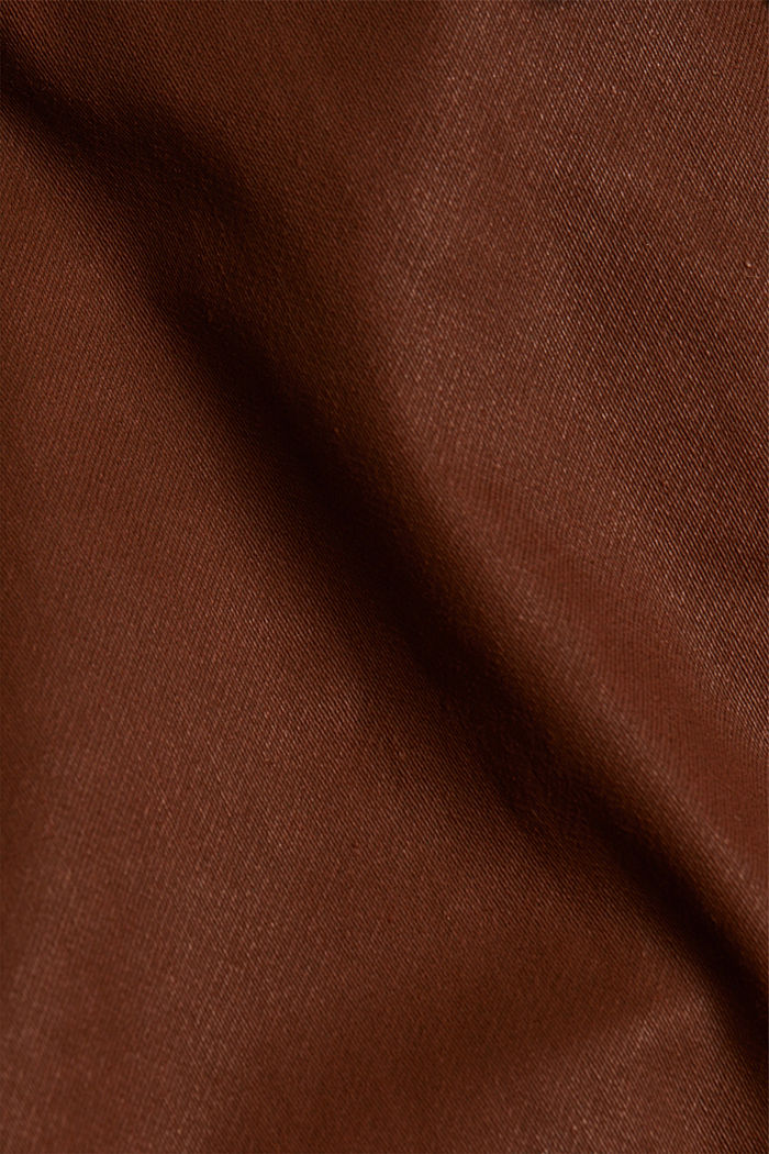 Beschichtete Jersey-Hose, BROWN, detail image number 4