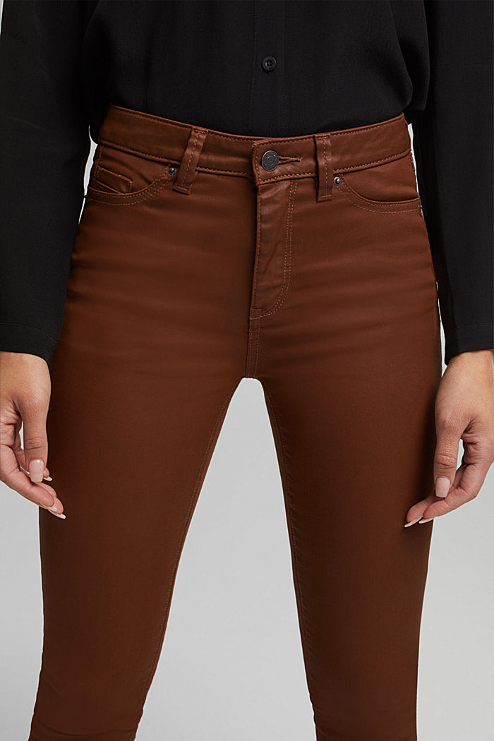 Beschichtete Jersey-Hose, BROWN, detail image number 5