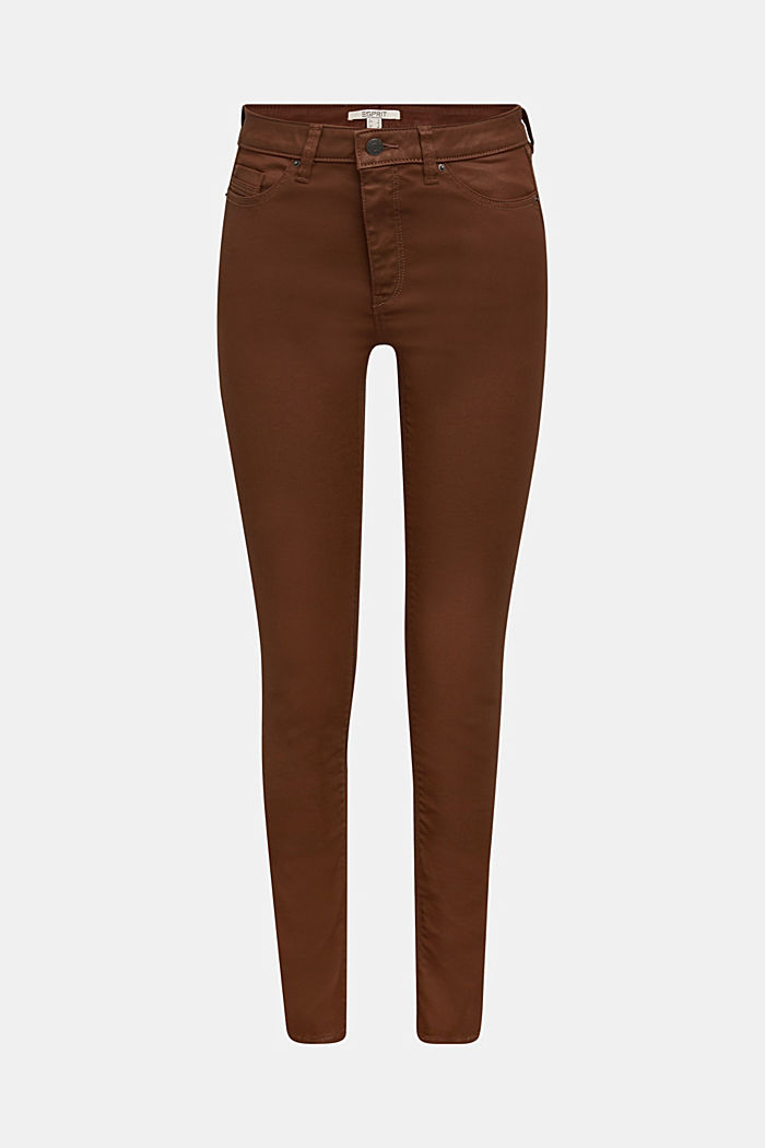 Beschichtete Jersey-Hose, BROWN, detail image number 7