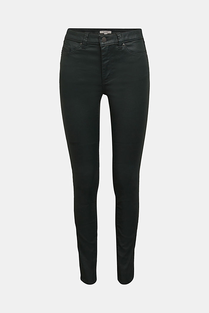 Coated jersey trousers, DARK GREEN, detail image number 6