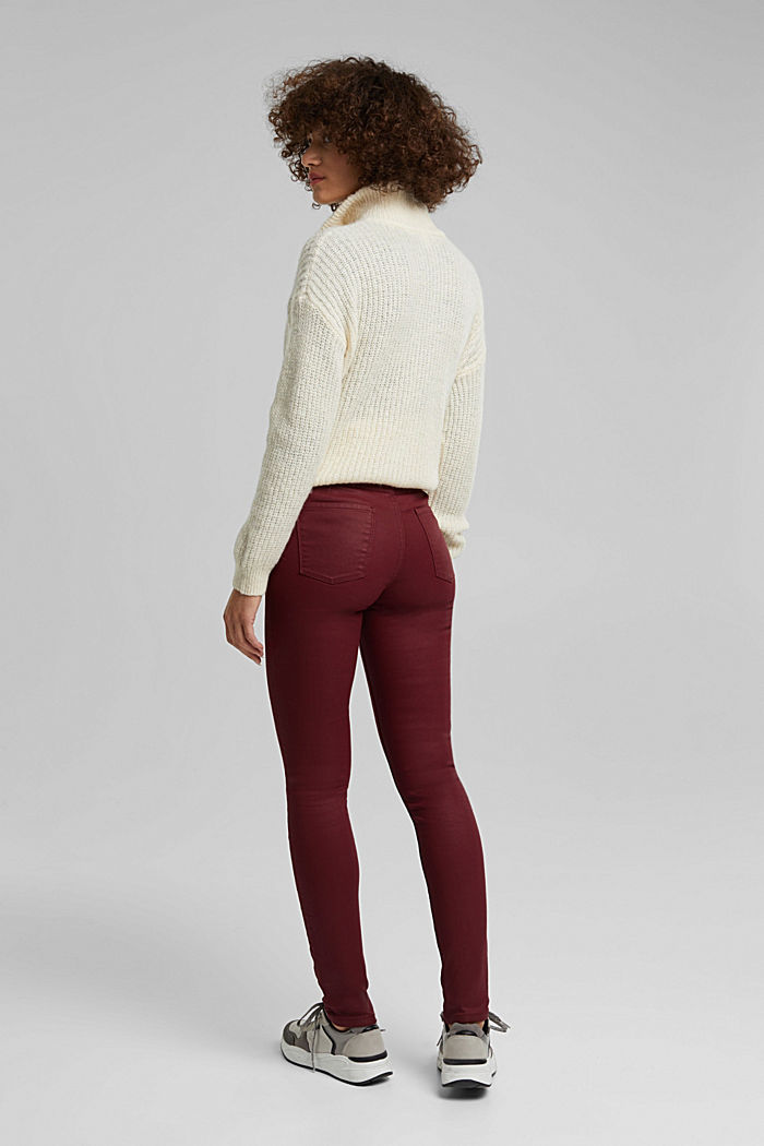 Gecoate jersey broek, BORDEAUX RED, detail image number 3