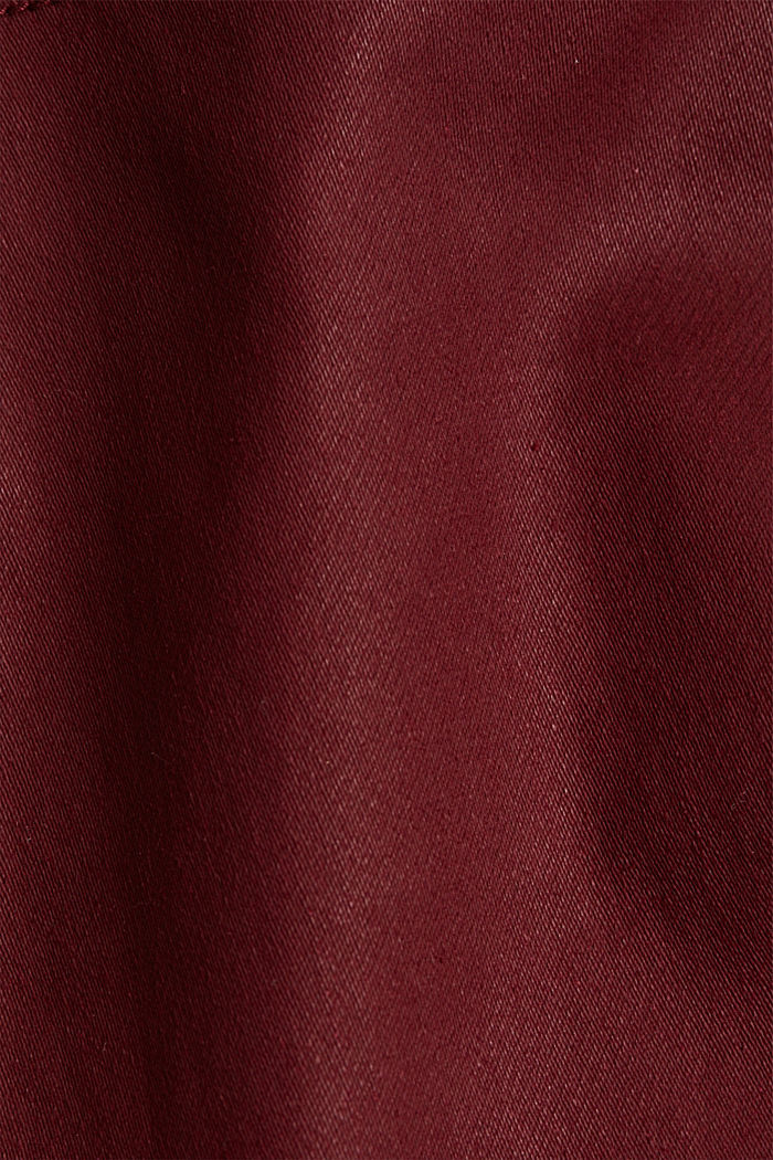Gecoate jersey broek, BORDEAUX RED, detail image number 4