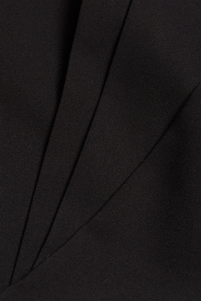 Stretch trousers with pressed pleats, BLACK, detail image number 4