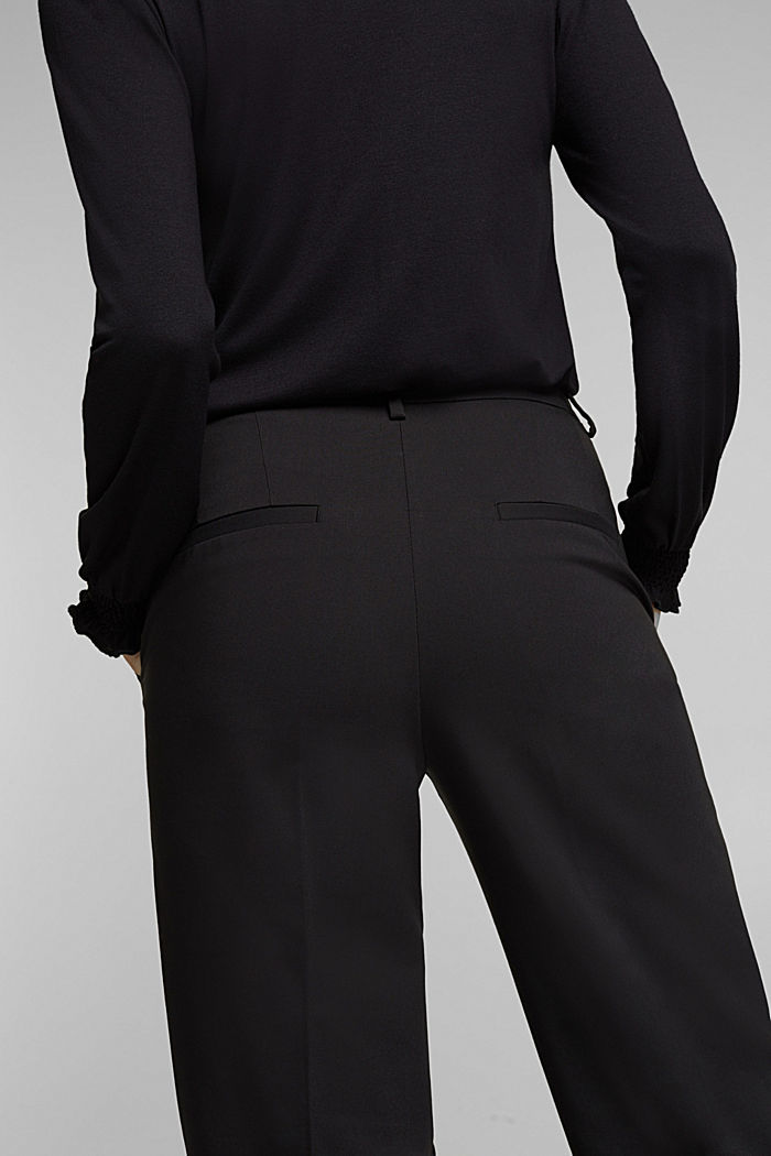 Stretch trousers with pressed pleats, BLACK, detail image number 5