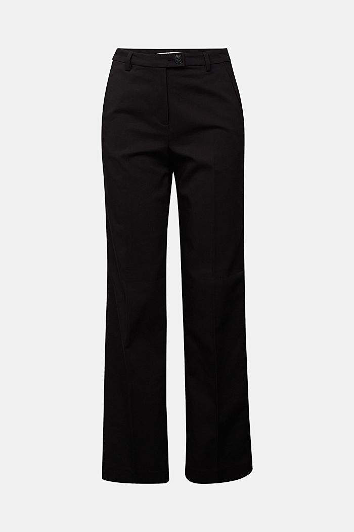 Stretch trousers with pressed pleats, BLACK, detail image number 7