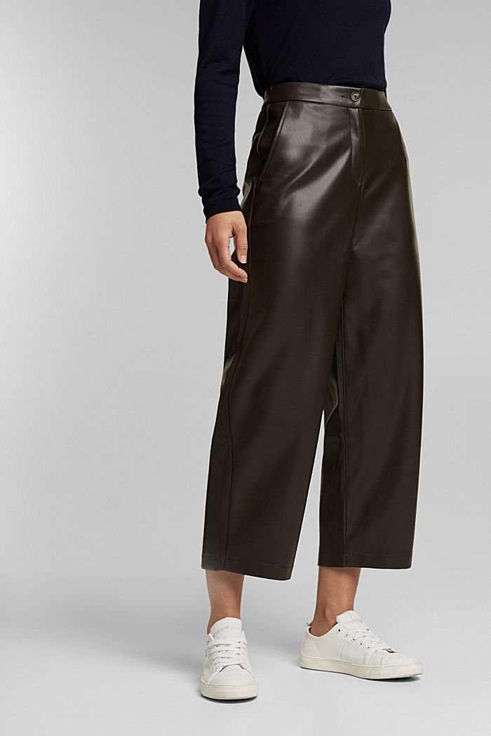 Faux leather culottes