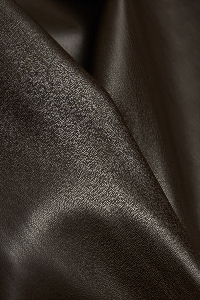 Faux leather culottes, BROWN, detail image number 4