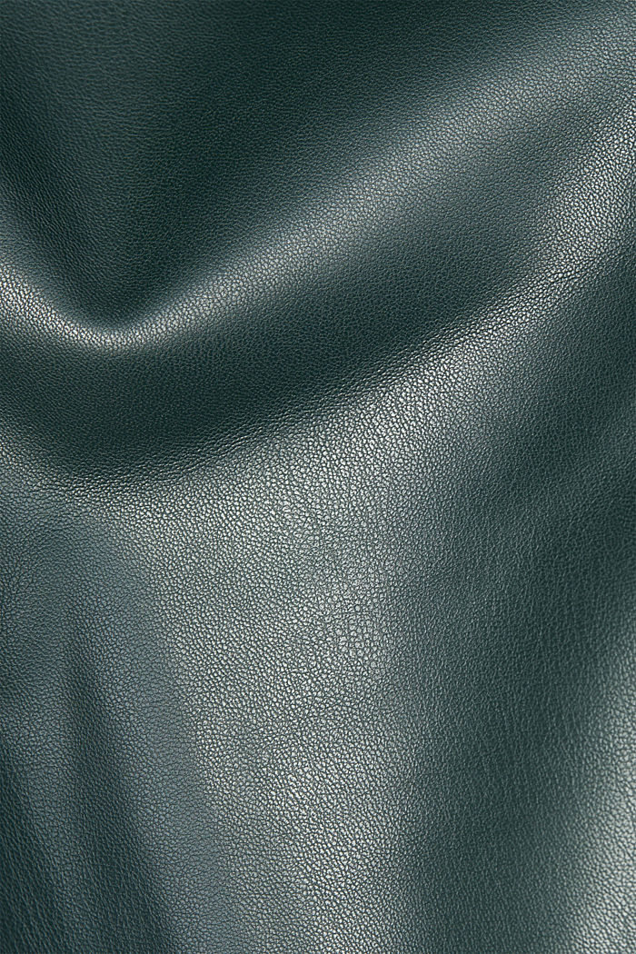 Faux leather culottes, DARK GREEN, detail image number 4