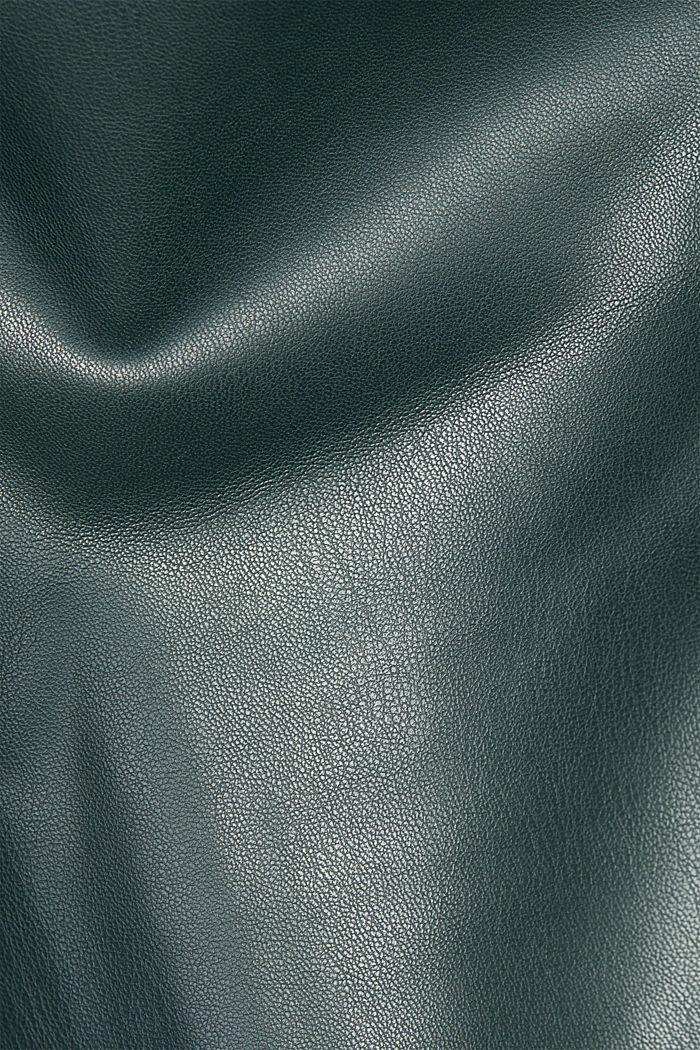Culotte in Lederoptik, DARK GREEN, detail image number 4