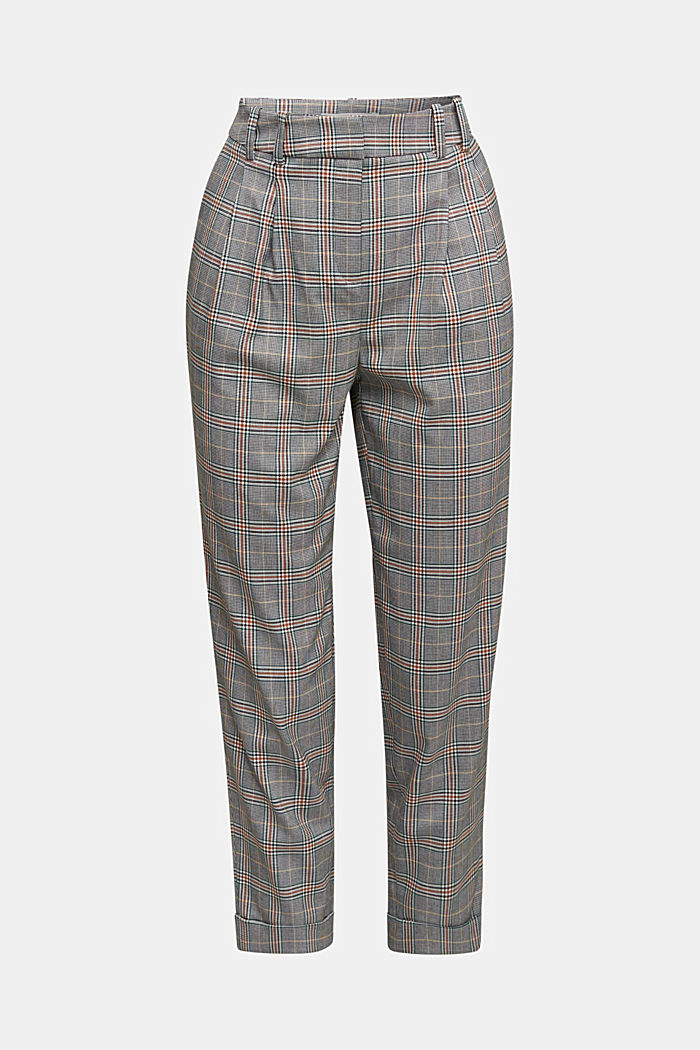 Recycled: NEW CHECK mix + match chinos, DARK GREEN, detail image number 4