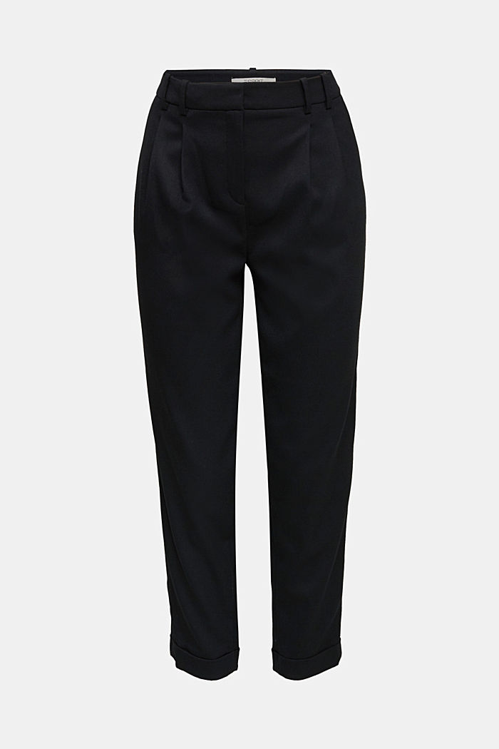 Chinos with stretch for comfort, BLACK, detail image number 4