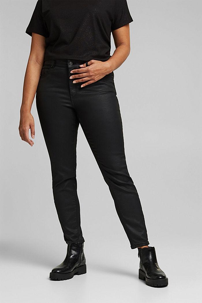 Skinny broek met biologisch katoen, BLACK, detail image number 0