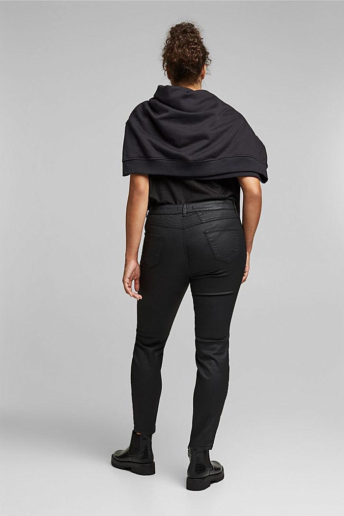 Skinny broek met biologisch katoen, BLACK, detail image number 3