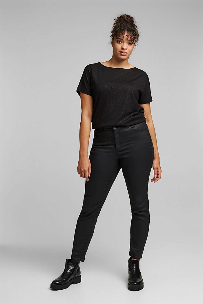 Skinny broek met biologisch katoen, BLACK, detail image number 1