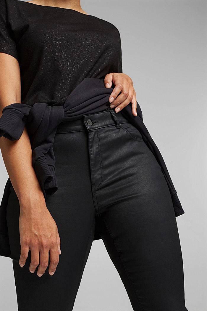 Skinny broek met biologisch katoen, BLACK, detail image number 2