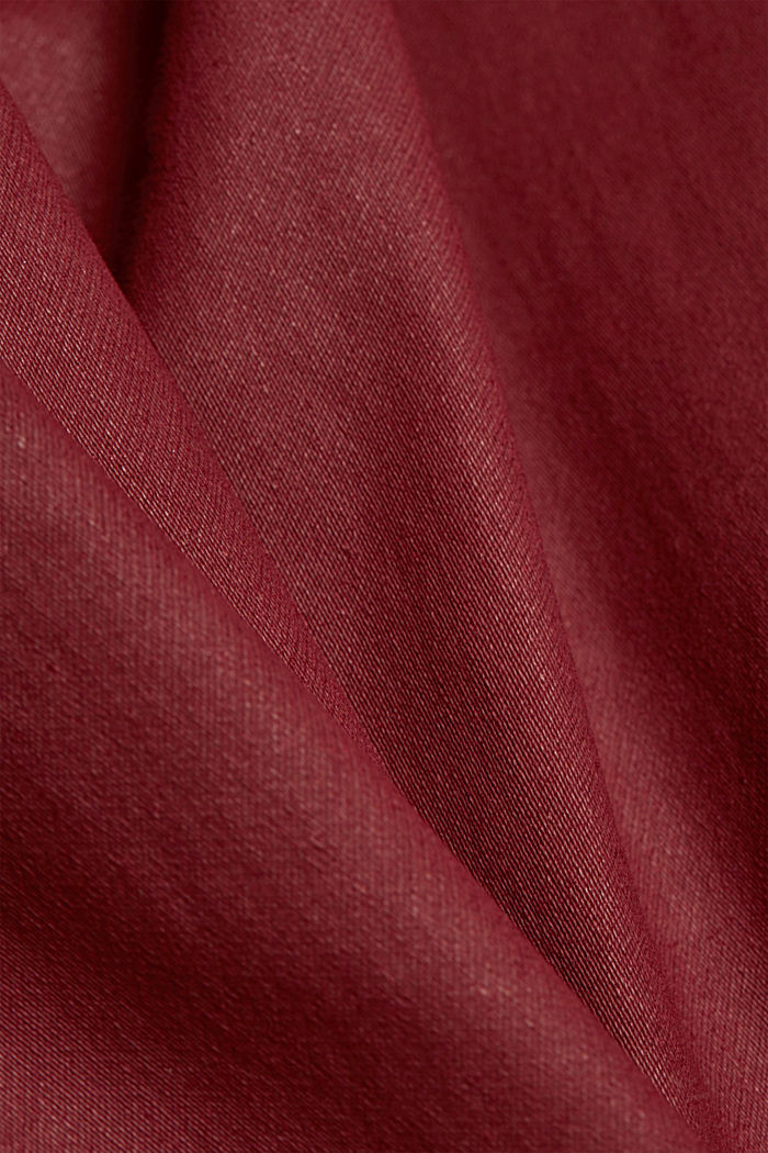 Skinny trousers with organic cotton, BORDEAUX RED, detail image number 4
