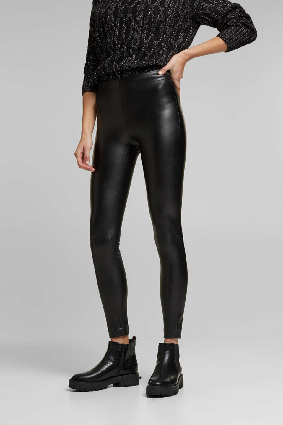 Esprit - Faux leather leggings