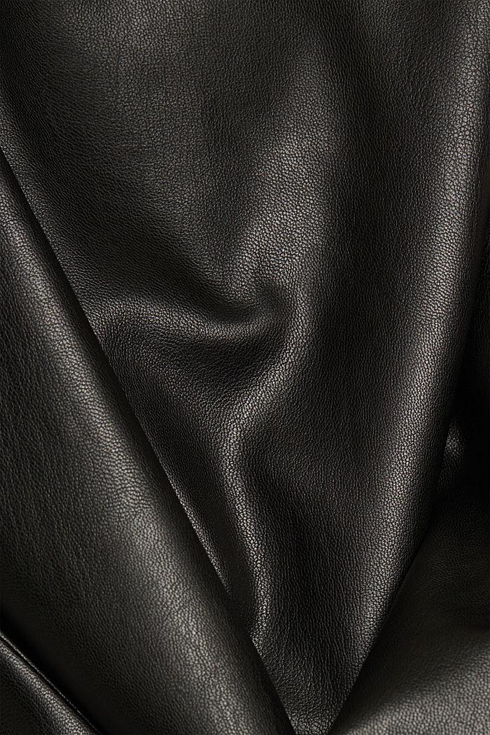 Faux leather leggings, BLACK, detail image number 4