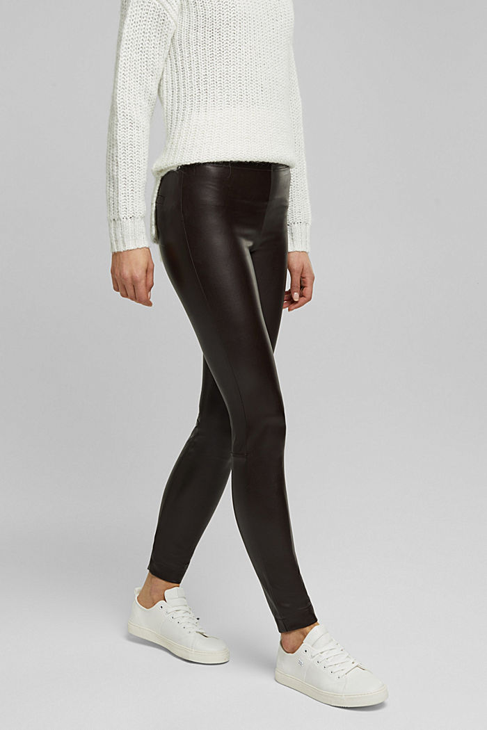 Leggings in Lederoptik