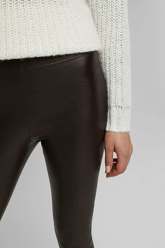 Leggings de polipiel, BROWN, detail image number 2