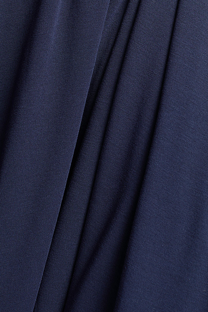 Flowing, midi length jersey skirt, NAVY, detail image number 4