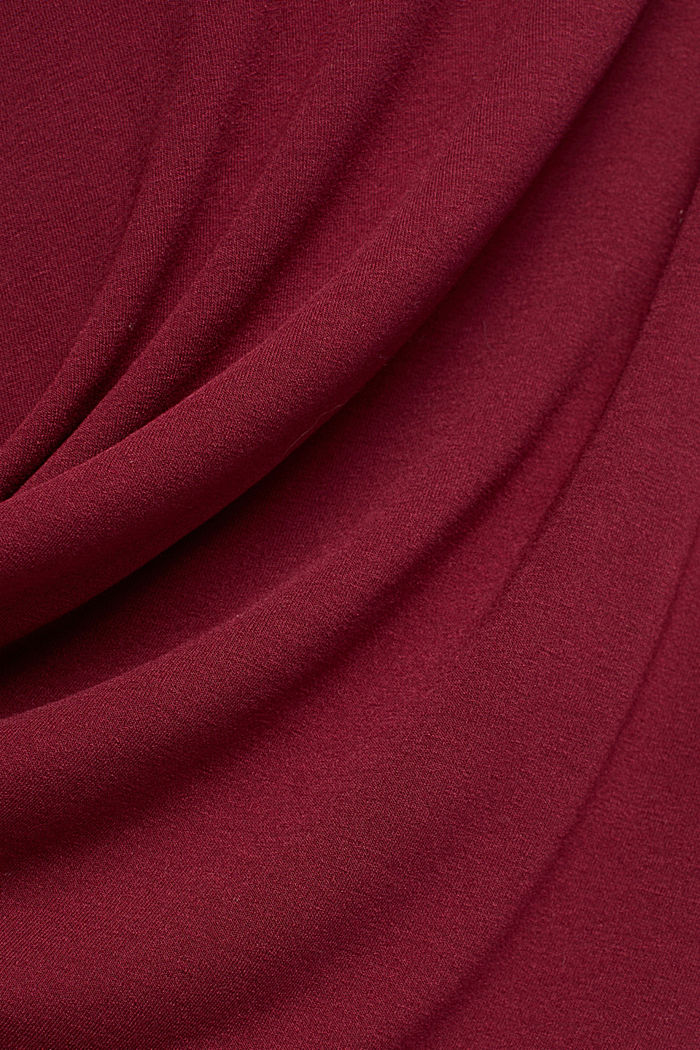 Flowing, midi length jersey skirt, BORDEAUX RED, detail image number 4