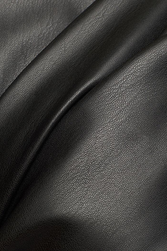 Pencil skirt made of vegan leather, BLACK, detail image number 4