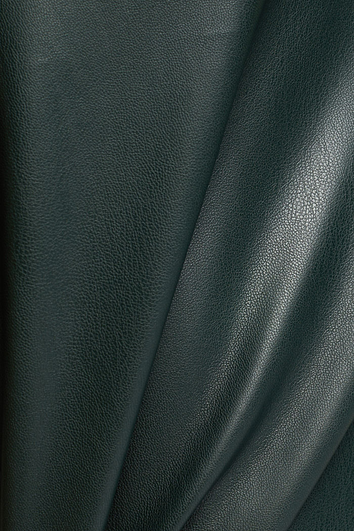 Pencil skirt made of vegan leather, DARK GREEN, detail image number 4