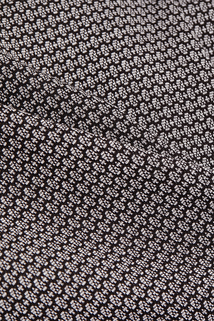 Jersey skirt with a jacquard pattern, BLACK, detail image number 4