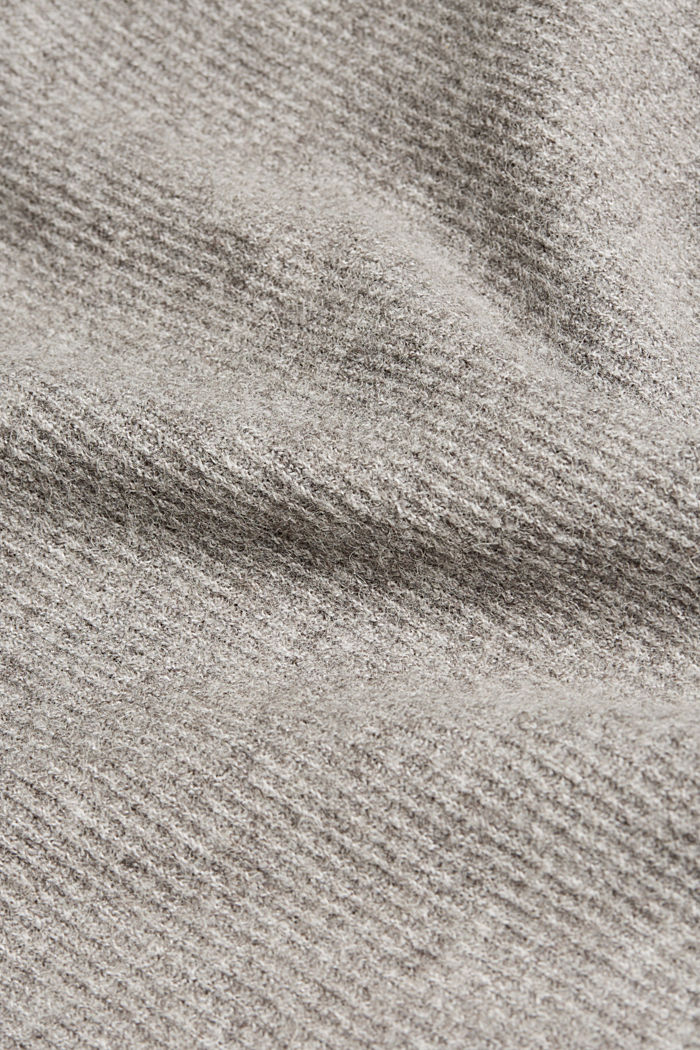Wool blend: rib knit skirt, GUNMETAL, detail image number 4