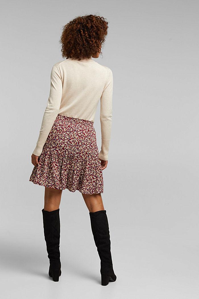 Mini skirt made of LENZING™ ECOVERO™, NAVY, detail image number 2