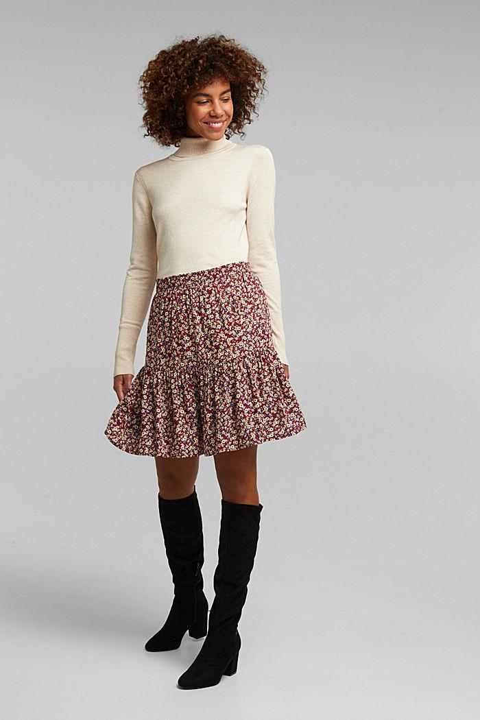 Mini skirt made of LENZING™ ECOVERO™, NAVY, detail image number 1