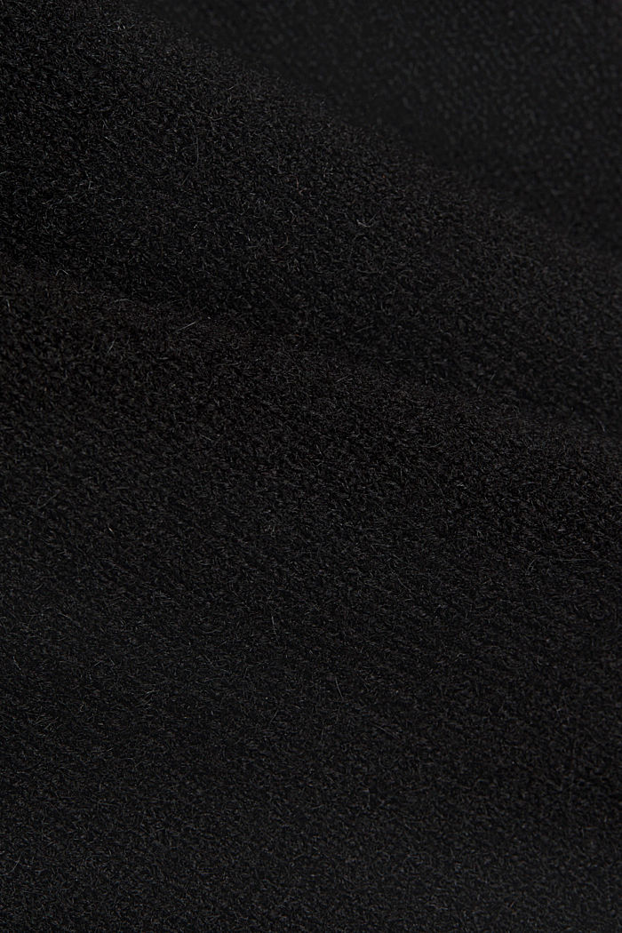 With wool/alpaca: Polo neck knitted dress, BLACK, detail image number 4
