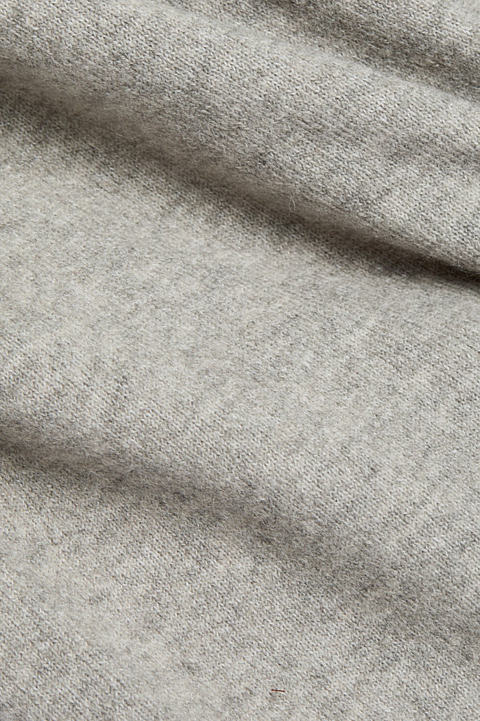 With wool/alpaca: Polo neck knitted dress, MEDIUM GREY, detail image number 4