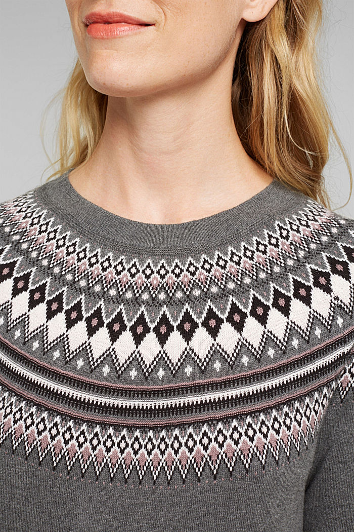 Knitted dress made of 100% organic cotton, DARK GREY, detail image number 3