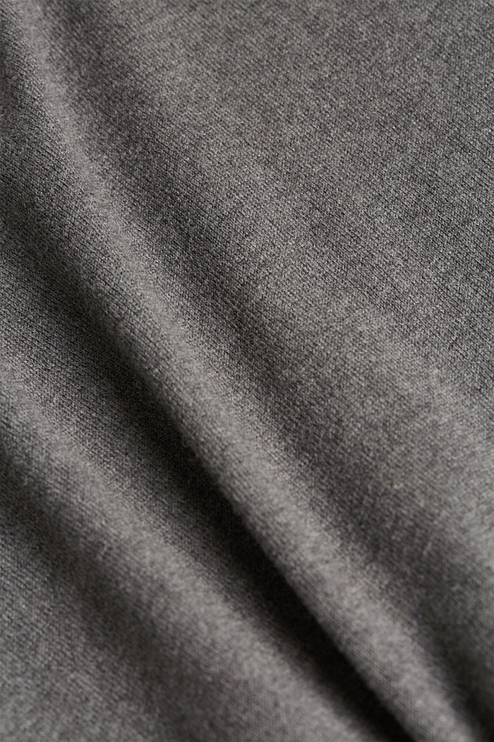 Knitted dress made of 100% organic cotton, DARK GREY, detail image number 4