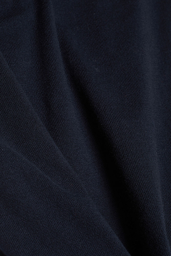 Knitted dress made of 100% organic cotton, NAVY, detail image number 4