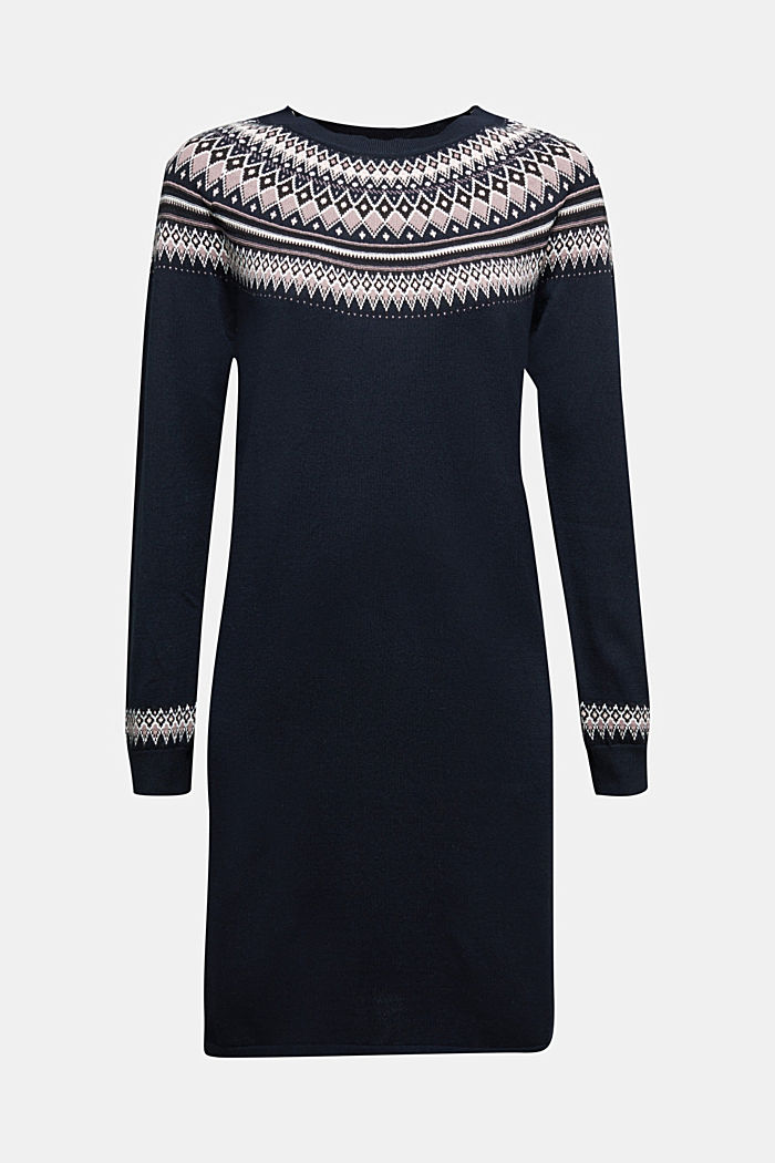 Knitted dress made of 100% organic cotton, NAVY, detail image number 5