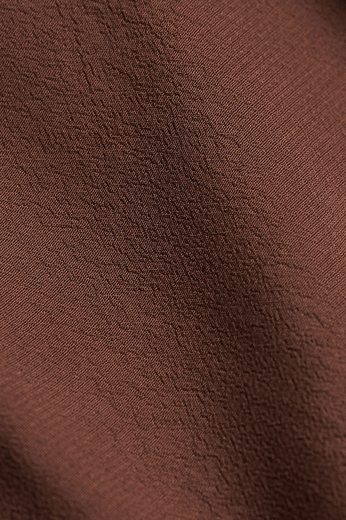 Shirt dress made of LENZING™ ECOVERO™, BROWN, detail image number 4