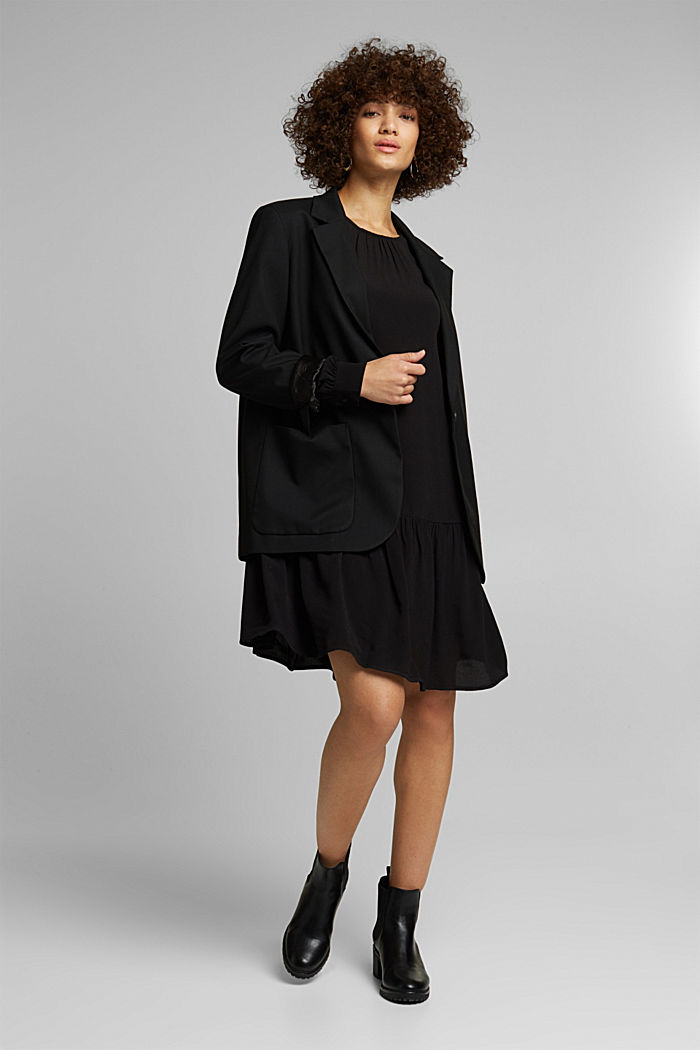 LENZING™ ECOVERO™ dress, BLACK, detail image number 1