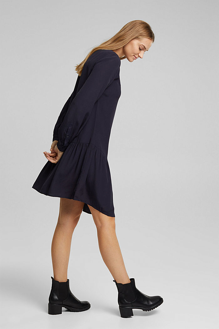 LENZING™ ECOVERO™ dress, NAVY, detail image number 5