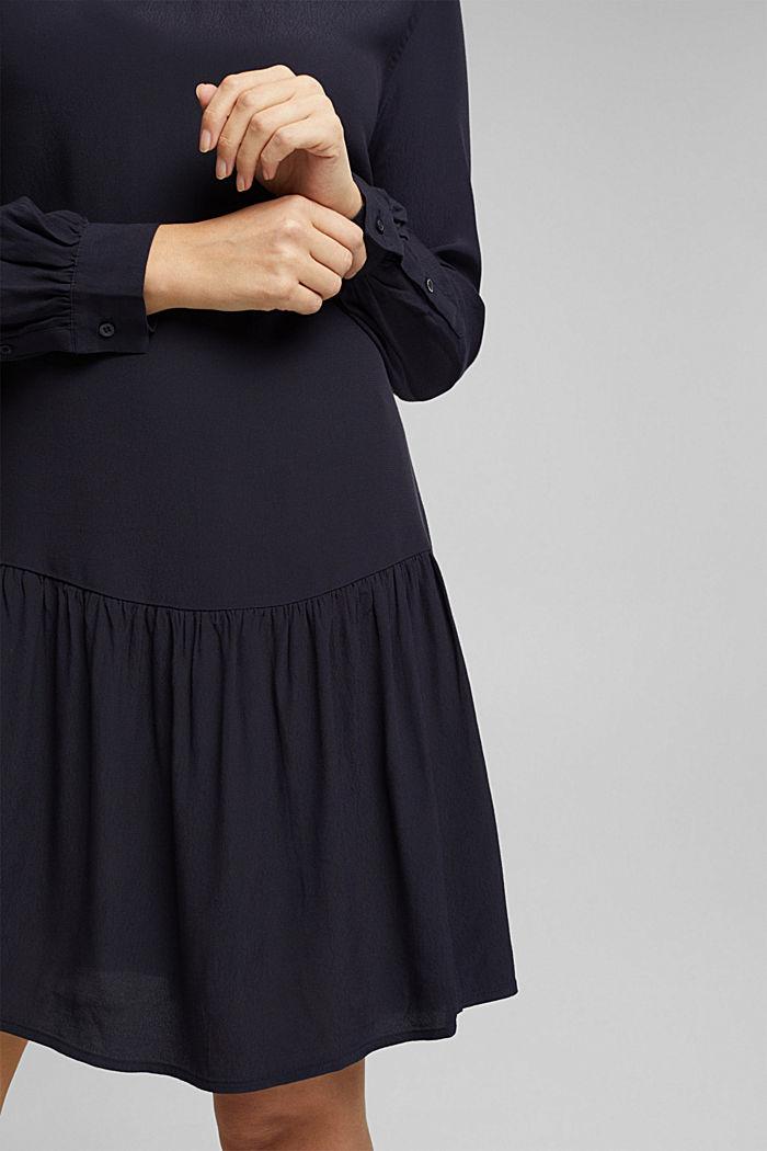 LENZING™ ECOVERO™ dress, NAVY, detail image number 6