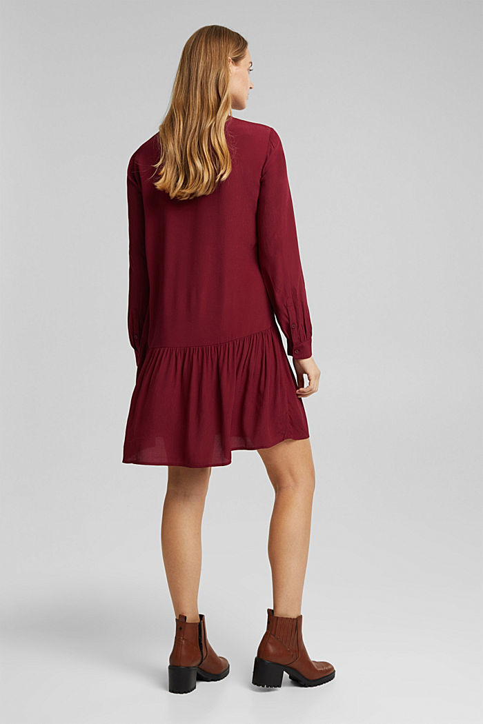 LENZING™ ECOVERO™ dress, BORDEAUX RED, detail image number 2