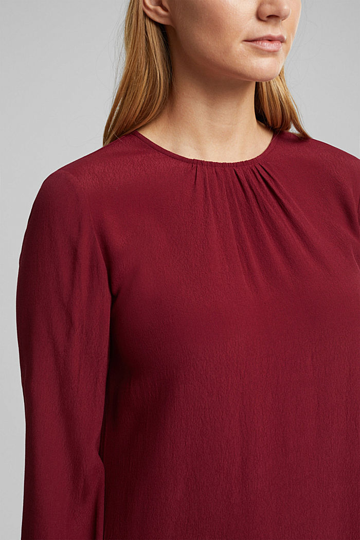 LENZING™ ECOVERO™ dress, BORDEAUX RED, detail image number 3
