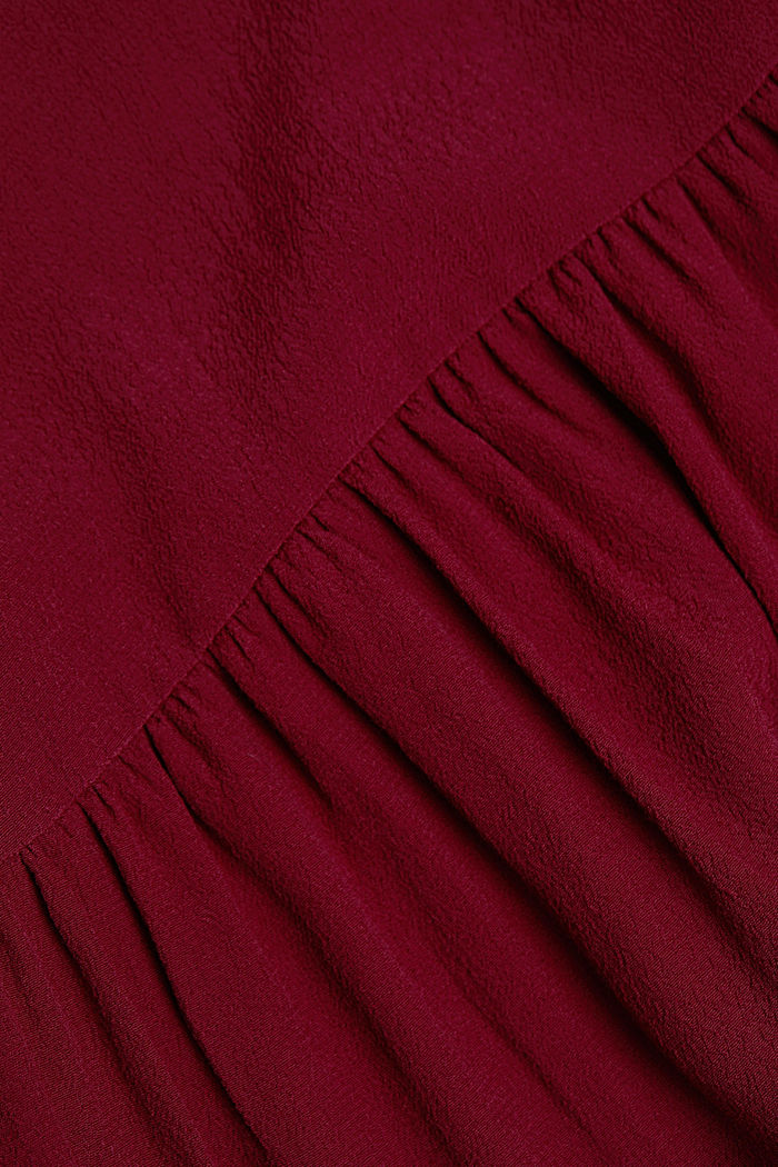 LENZING™ ECOVERO™ dress, BORDEAUX RED, detail image number 4