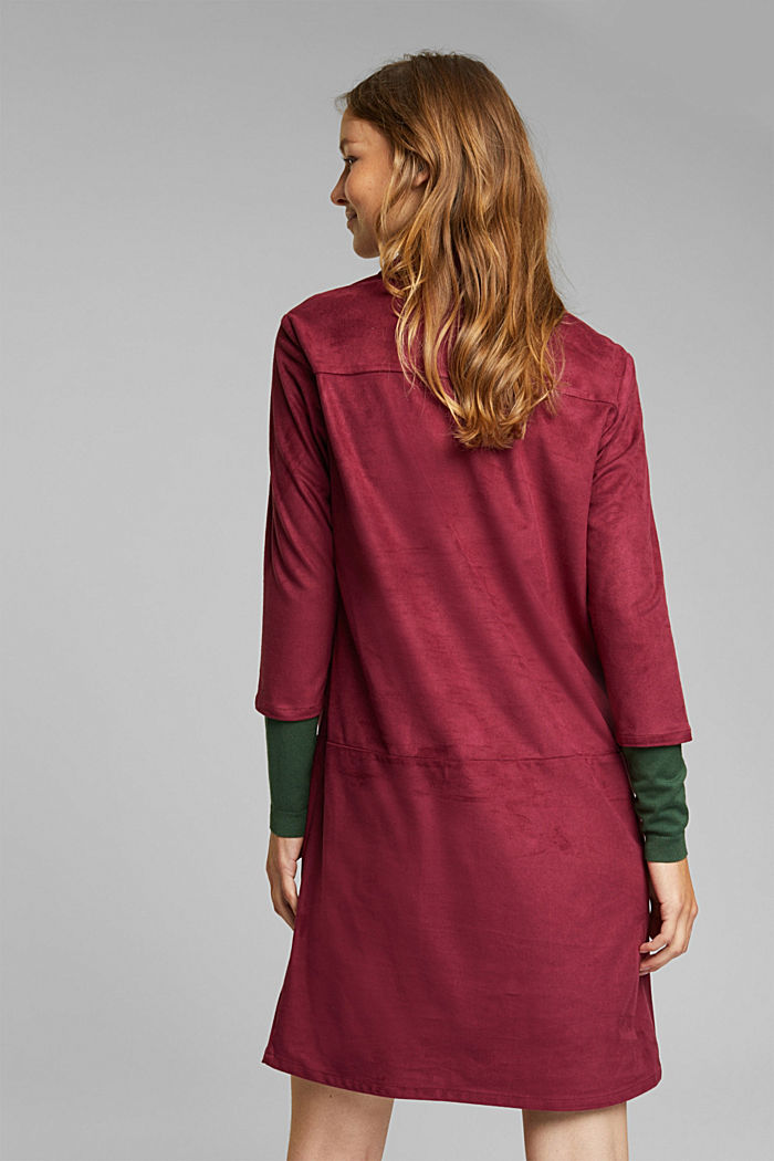 Recycled: faux leather shirt dress, BORDEAUX RED, detail image number 3