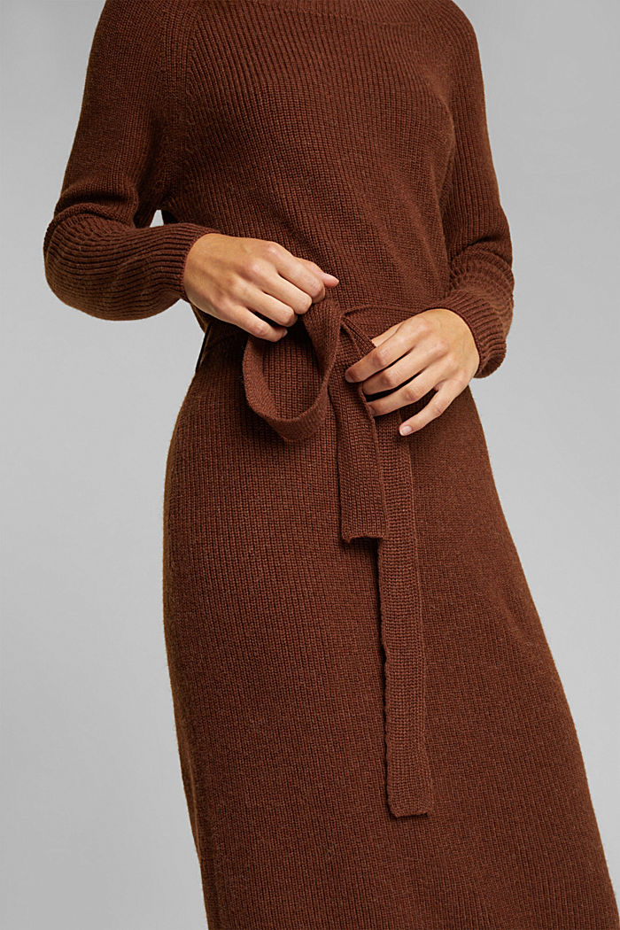 Knit dress with alpaca and organic cotton