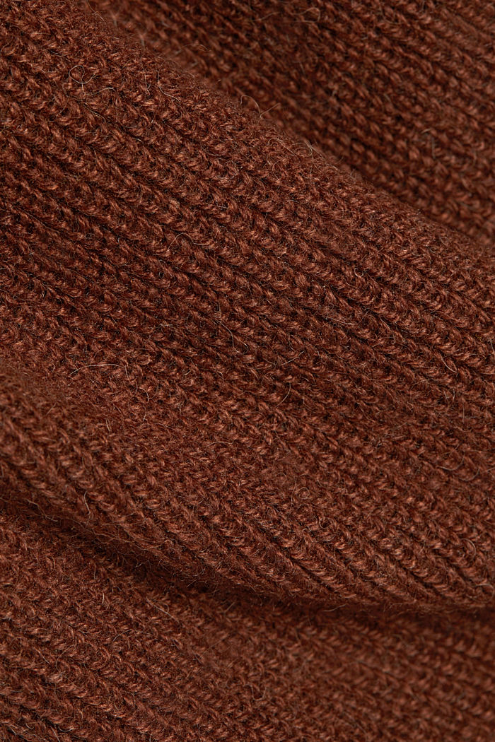 Knit dress with alpaca and organic cotton, BROWN, detail image number 4